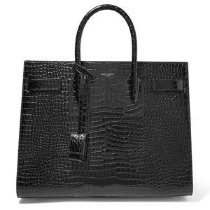 Saint Laurent sac de jour bag black crocodile